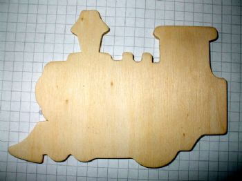 Birch Ply Wooden Train Wood Craft Shape